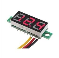 - 0.28inch 0-100 3 kablolu DC Voltmeter Kırmızı