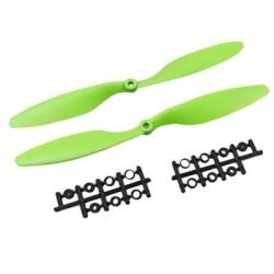 OZK000295 - OZK295-1045 Yeşil Plastik CW/CCW Pervane Seti