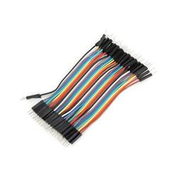 OZK000355 - 10cm 40'lı Jumper Kablo Erkek-Erkek
