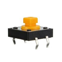 OZK001813 - 12x12x7.3mm Kare Sarı Tact Buton
