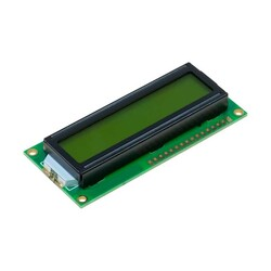- 2*16 LCD Yeşil, Üstten Ve Alttan Pinli
