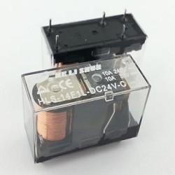 Helishun - HLS-14F1L-24Volt 10Amper Şeffaf Tek Kontak Röle 5 Pin