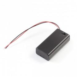 OZK001720 - 1720-2'li AA Pil Yuvası (Kapaklı ve Switchli)