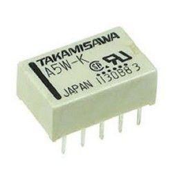 Takamisawa - A5W-K 5Volt Çift Kontak Çift Bobin Röle