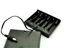OZK001709 - 1709-6'lı AA Pil Yuvası (Kapaklı ve Switchli)