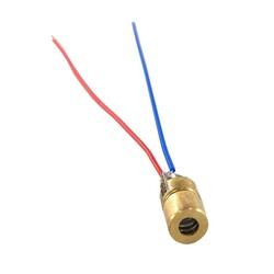 OZK000608 - 6mm 650nm 5mW Kırmızı Nokta Kafalı Bakır Lazer