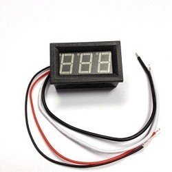 - Dijital Ampermetre DC 0-20Amper 20 Amper için şönt dahil