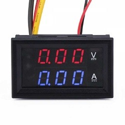 - Dijital Ampermetre-Voltmetre DC 0-30V 0-10A Dual