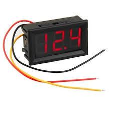 - Dijital Voltmetre DC 0-100V 3 Kablolu