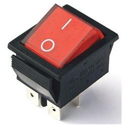 - IRS-201-1C Geniş Işıklı Anahtar Kırmızı 104