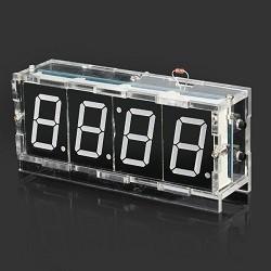 OZK000353 - Kendin Yap Masa Üstü Saati Sıcaklık Sensörlü Beyaz