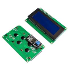 OZK000411 - LCD2004A 20x4 Haberleşmeli Ara Yüz Kartlı IIC/I2C Mavi Işıklı