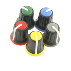 - Mono Pot Düğmesi Gri Mavi