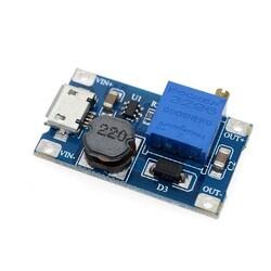 - MT3608 2A Yükselteç DC-DC Aşamalı Güç Modülü Micro Usb Çıkışlı