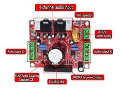 OZK000606 - OZK606-TDA7850 4X50W Amplifikatör Modülü